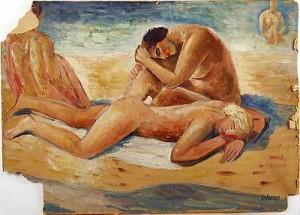 På Stranden by Gunnar TORHAMN