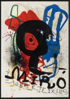 Affiche Pour L'exposition Sobreteixims by Joan MIRO