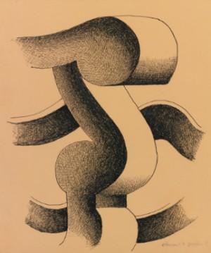 Elément De Fauteuil by Fernand LEGÉR