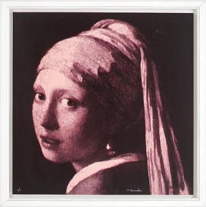 Flicka Med Pärlörhänge, Efter Jan Vermeers Målning by Michael QVARSEBO