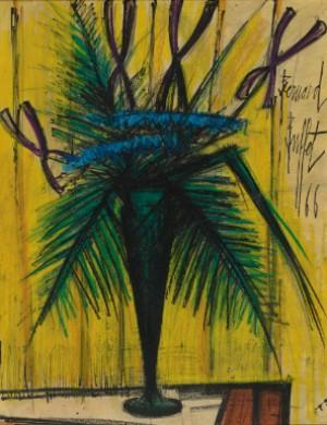 Bouquet De Fleurs, Vase Vert by Bernhard BUFFET
