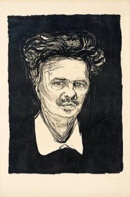 August Strindberg by Edvard MUNCH