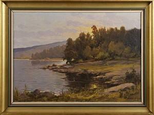 Insjölandskap by Arthur HEICKELL