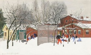 Vinter Fogdeskolan by Sven LJUNGBERG