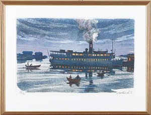Båten Vid Skymningen by Roland SVENSSON