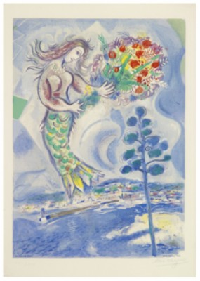 Sirène Au Pin. Plate X From Nice Et La Côte D'azur. After By Charles Sorlier. by Marc CHAGALL