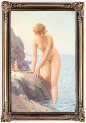 Naken Kvinna På Klippa by Ivan CONSTANTIN