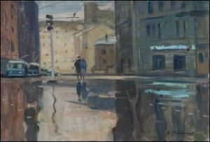 Early Morning In Moscow by Yuri Ivanovich PIMENOV