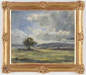 Landskap Med Träd by Josef ÖBERG