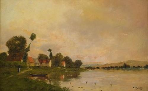Landskap by Jacques Henri DELPY