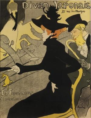 Divan Japonaise, 1892 by Henri De TOULOUSE-LAUTREC