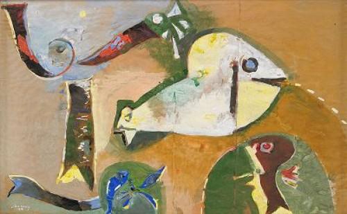 Komposition Med Fiskar by Endre NEMES