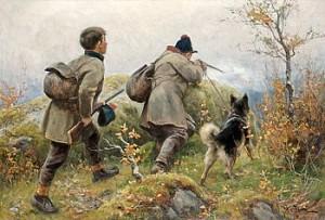 Jaktmotiv Från Jämtlandsfjällen by Johan TIRÉN