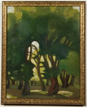 A Sunlit Forest by Sergei Yurievich SUDEIKIN