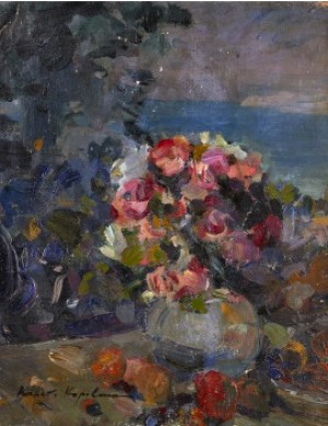 Nocturnal Still-life by Konstantin Alexeievich KOROVIN