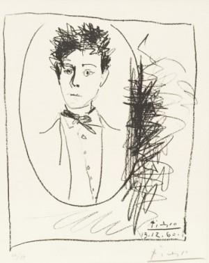 Portrait D'arthur Rimbaud by Pablo PICASSO