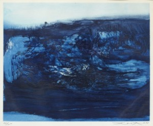 Composition Bleue by ZAO WOU-KI