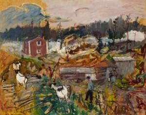Kor På Väg Till Ladugården by Eric HALLSTRÖM