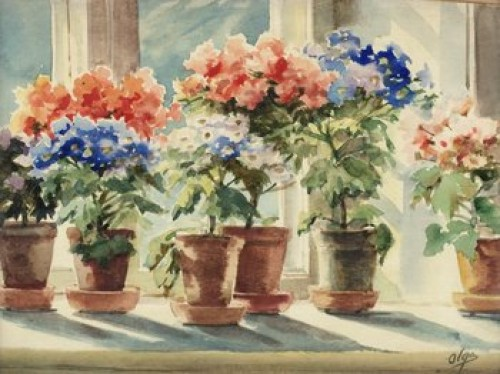 Blomsterfönster by Olga Grand Duchess ALEXANDROVNA