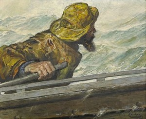 Fiskare I Båt by Christian KROHG