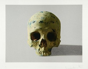 Studio Half Scull, Face On by Damien HIRST