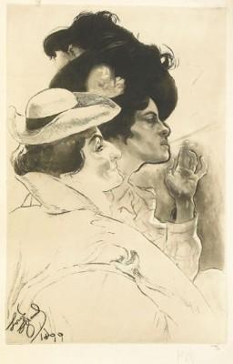 Deux Femmes by Louis Auguste Mathieu LEGRAND