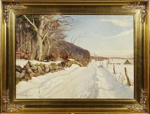 Vinterlandskap by Harald PRYN