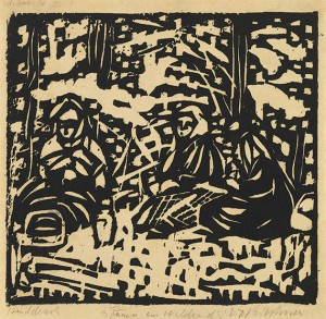 Drei Frauen Am Waldesrand by Ernst Ludwig KIRCHNER