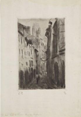 Une Rue à Rouen, Rue Des Arpents by Camille PISSARRO