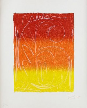 Color Numerals: Figure 6 by Jasper JOHNS