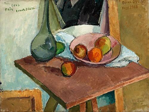 Stilleben Med Frukt Och Glaskaraff by Einar JOLIN