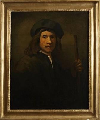 Självporträtt, Kopia/efter by Rembrandt Harmenszoon Van RIJN