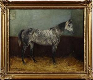 Stallinteriör Med Häst - Rapide by John ARSENIUS