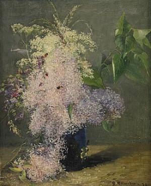 Blomsterstilleben by Olof HERMELIN