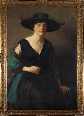 Porträtt Av Fru Franckell by Emil ÖSTERMAN