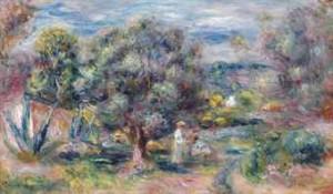 Aloès, La Cueillette à Cagnes by Pierre Auguste RENOIR