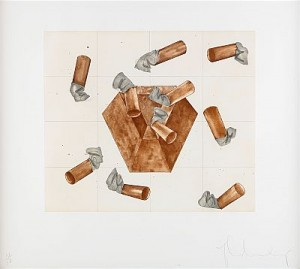 Study For Steel And Lead Ashtray by Claes OLDENBURG