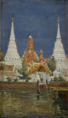 Wat Aron, Bangkok by Hugo Vilfred 'Hugo Vp' PEDERSEN