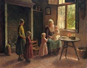 Flowers For The New Arrival by Bernard POTHAST
