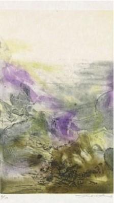 Canto Pisan: (plate 8) by ZAO WOU-KI