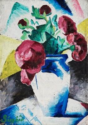 Kubistiskt Blomsterstilleben by Pär SIEGÅRD