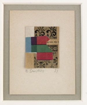 Untitled - Zur Decke, Abb. 8. Verso Marked. Prel. Oeuvre-no, 1927, 45 by Kurt SCHWITTERS