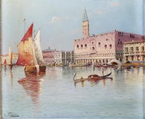Dogepalatset, Venedig by Karl KAUFMANN