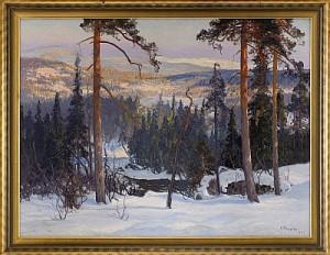 Norrländskt Vinterlandskap by Carl BRANDT