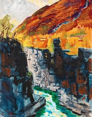 Höstlandskap Med Canjon, Abisko by Isaac GRÜNEWALD