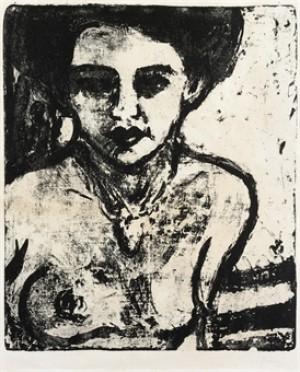 Artistenkind (halbakt) (dube L 136; Schiefler 80) by Ernst Ludwig KIRCHNER