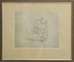 Nakenstudie by Aristide MAILLOL