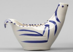Dove Subject. A Picasso Madoura Bowl by Pablo PICASSO