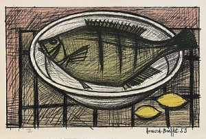 Poisson Sur Un Plat by Bernhard BUFFET