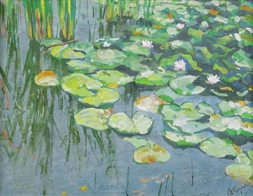 Water Lilies by Anatoly Dmitrievich KAIGORODOV